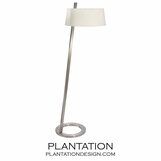 Martino Floor Lamp | Satin Nickel