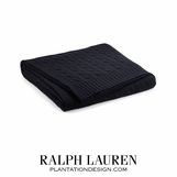 Cabled Cashmere Throw | Black