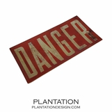 Danger Decoupage Tray