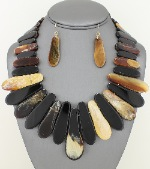 # 224  2pc. Reclaimed Tortoise Necklace Set