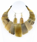 #227   2pc. Natural  Stone Necklace Set
