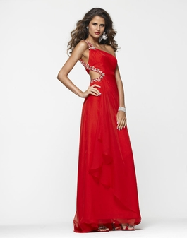 2013 Clarisse Apple Red Long One Shoulder Prom Gown 2135