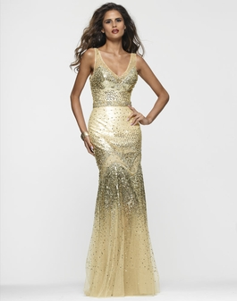 2013 Clarisse Champagne Beaded Gown 2116