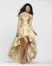 2013 Clarisse High Low Gold Gown 2114