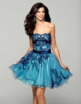 2027 Ultramarine/Ocean Clarisse Short Dress
