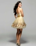 2012 Homecoming Clarisse Short Gold Dress 2029