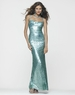 Clarisse Long Sequin Sequin Seafoam Gown 2150