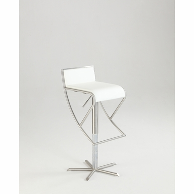 Chintaly - Modern Barstool in White - 1627-AS-WHT