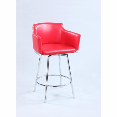 Chintaly - Club Bar Stool With Memory Swivel - DUSTY-BS-RED