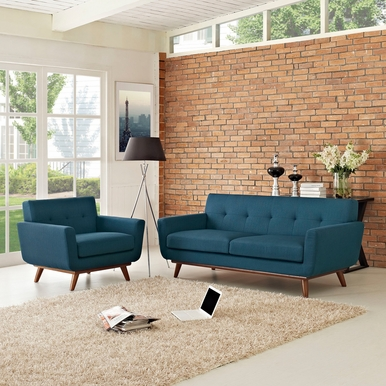 Modway - Engage Armchair and Loveseat Set of 2 in Azure - EEI-1346-AZU