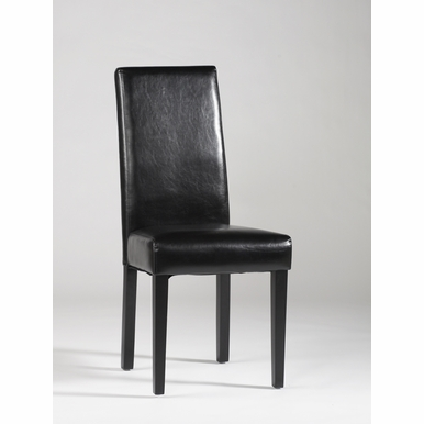 Chintaly - Straight Back Parson Chair Black  Set of 2 - STRGT-BCK-PRS-SC-BLK