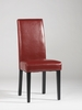 Chintaly - Straight Back Parson Chair Red  Set of 2 - STRGT-BCK-PRS-SC-RED