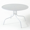 "Crosley Furniture - Griffith Metal 40"" Dining Table in White Finish - CO1012A-WH"