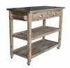 Boraam - Sonoma Wire-Brush Kitchen Cart - 98520