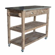 Boraam   Sonoma Wire Brush Kitchen Cart   98520