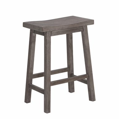 "Boraam - 24"" Sonoma Wire-Brush Saddle Stool - 75024"