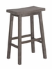 "Boraam - 29"" Sonoma Wire-Brush Saddle Stool - 75029"