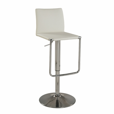 Chintaly - Low Back Pneumatic Stool White - 0801-AS-WHT