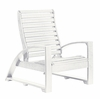 CR Plastic Products - St Tropez Lounger Chair in White - C30-02