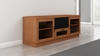 "Furnitech - 60"" Contemporary Tv Stand Media Console For Flat Screen And Audio Video Installations In A Natural Cherry Finish - FT60CCNC"