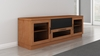 "Furnitech - 70"" Contemporary Tv Stand Media Console For Flat Screen And Audio Video Installations In A Natural Cherry Finish - FT72CCNC"