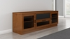 """Furnitech - 70"""" Contemporary Tv Stand Media Console For Flat Screen And Audio Video Installations In A Light Cherry Finish - FT72CCLC"""