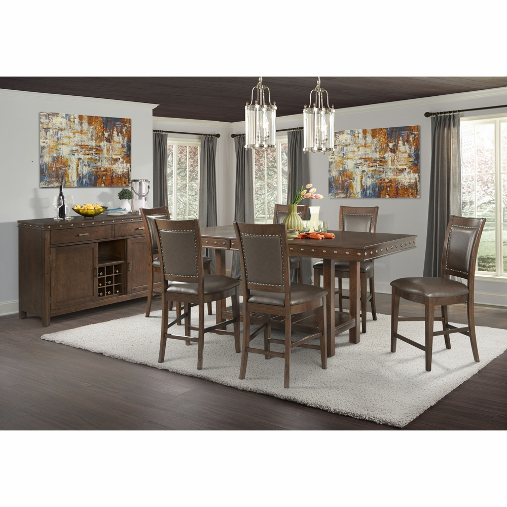 picket house furnishings. Picket House Furnishings - Pruitt Counter 8PC Dining Set-Table, 6 Side Chairs \u0026 Server DPS100SS8PC