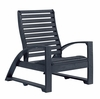 CR Plastic Products - St Tropez Lounger Chair in Black - C30-14