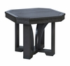 """CR Plastic Products - St Tropez 25"""" Square End Table in Black - T31-14"""