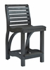 CR Plastic Products - St Tropez Counter Chair in Black - C36-14