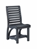 CR Plastic Products - St Tropez Dining Side Chair in Black - C35-14