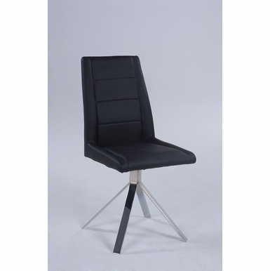 Chintaly - Channel Back Pyramid Base Chair Set of 2 - DANA-SC-BLK