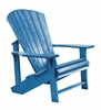 CR Plastic Products - Generations Adirondack Chair in Blue - C01-03