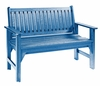CR Plastic Products - Generations Garden Bench in Blue - B01-03