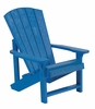 CR Plastic Products - Generations Kids Adirondack Chair in Blue - C08-03