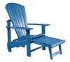 CR Plastic Products - Generations Upright Adirondack Chair in Blue - C03-03