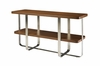 Allan Copley Designs - Artesia Rectangle Console Table with Walnut Stain Top on Satin Nickel Base - 20901-03-W