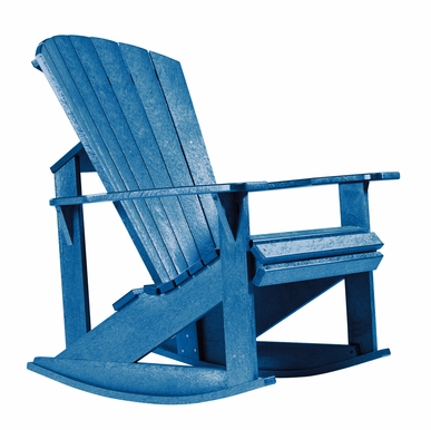 CR Plastic Products - Generations Adirondack Rocking Chair in Blue - C04-03