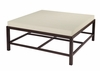Allan Copley Designs - Spats Square Cocktail Table in Espresso Finish with White on Ash Top - 3403-015
