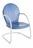 Crosley Furniture - Griffith Metal Chair in Sky Blue Finish - CO1001A-BL