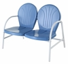Crosley Furniture - Griffith Metal Loveseat in Sky Blue Finish - CO1002A-BL