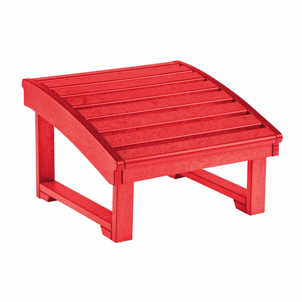 CR Plastic Products   Generations Upright Adirondack Chair Pull Out  Footstool In Red   F03 01
