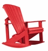 CR Plastic Products - Generations Adirondack Rocking Chair in Red - C04-01