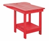 CR Plastic Products - Generations Tete A Tete Table in Red - A12-01