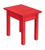 CR Plastic Products - Generations Small Side Table in Red - T01-01