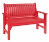 CR Plastic Products - Generations Garden Bench in Red - B01-01