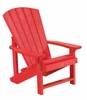 CR Plastic Products - Generations Kids Adirondack Chair in Red - C08-01