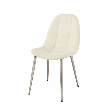 Chintaly - Donna Upholstered Back Side Chair  Set of 4 - DONNA-SC-WHT
