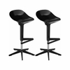 Mod Made - Starfish Bar Stool 2-Pack In Black - MM-BC-088-Black