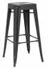 Chintaly - Galvanized Steel Bar Stool Black  Set of 4 - 8015-BS-BLK